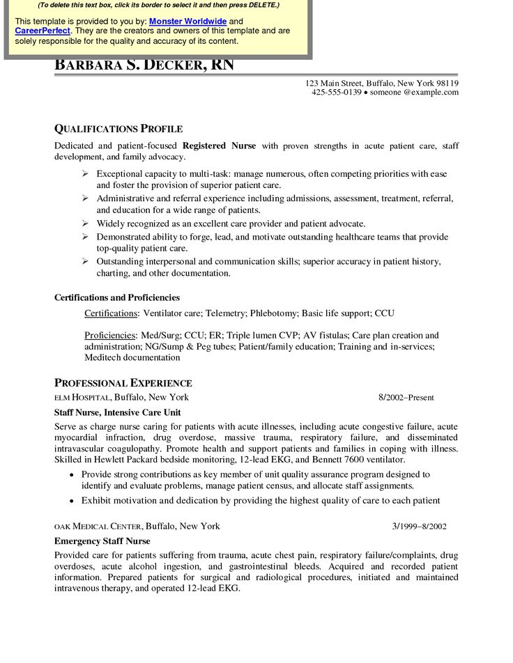 12 best RN Resume images on Pinterest Rn resume, Sample resume - objective for rn resume
