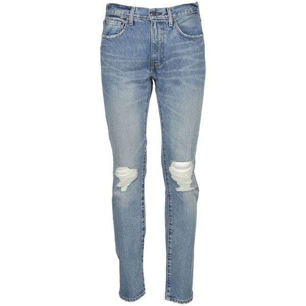 501 Red Tab 505 Jeans (€53) ❤ liked on Polyvore featuring men's fashion, men's clothing, men's jeans, jean's, light blue, menclothingjeans, mens super skinny jeans, mens skinny fit jeans, levi mens jeans and mens light blue skinny jeans