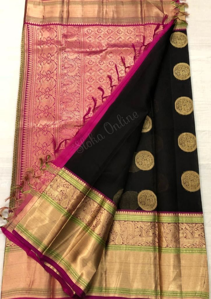Buy Pure Kanchi Kora Silk Sarees In Elagant Colours at slokaonline.com, Shop for Exclusive Kanchi Kora Sarees shopping at slokaonline.com, Sloka sarees online