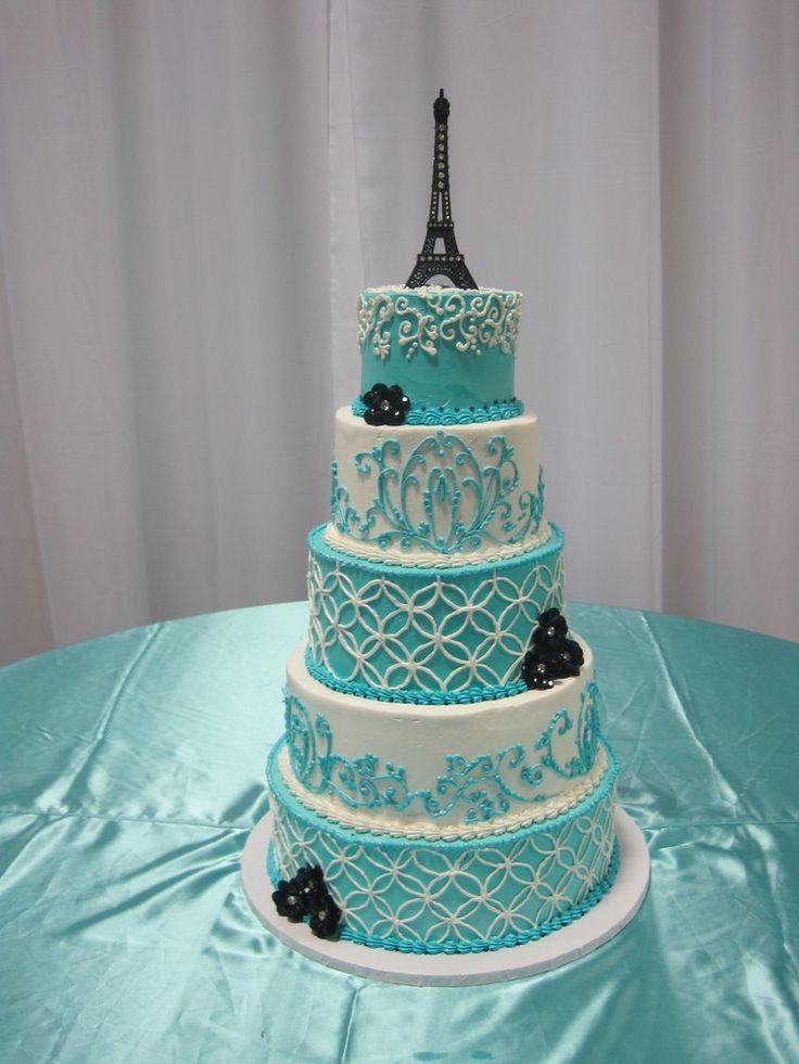 Paris Themed Quincea 241 Era Cake Yelp Quincenara
