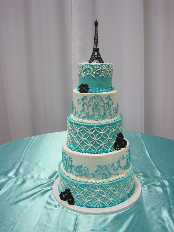 Paris themed Quinceañera Cake | Yelp