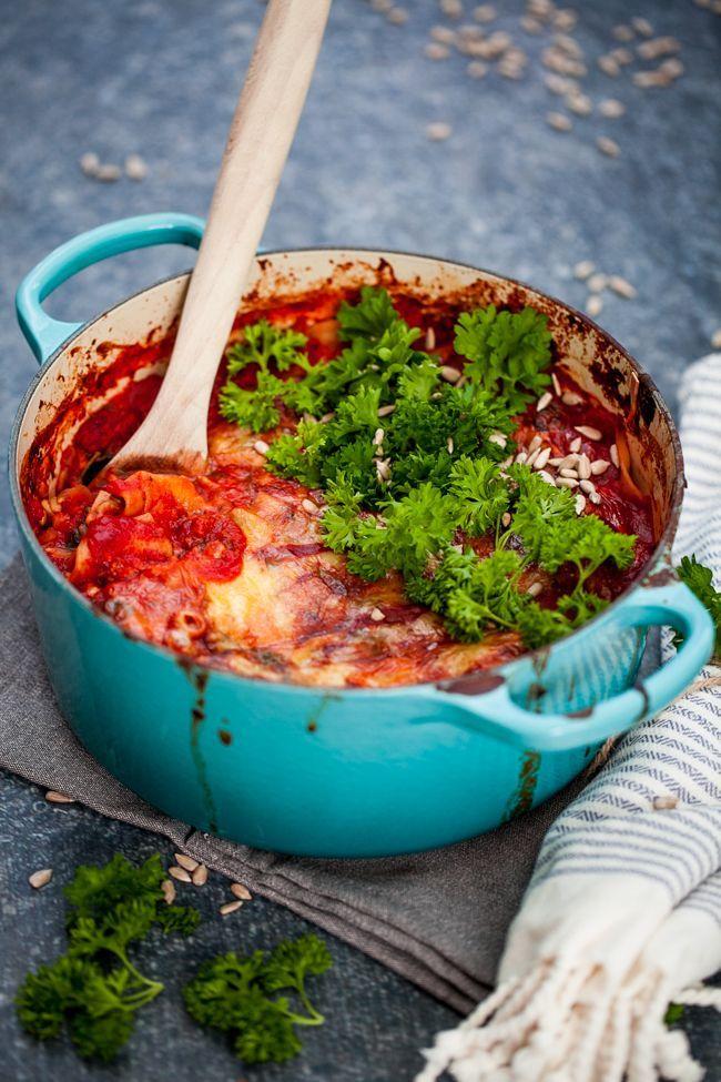 Vegetarisk lasagne med halloumi – Linnéas Skafferi