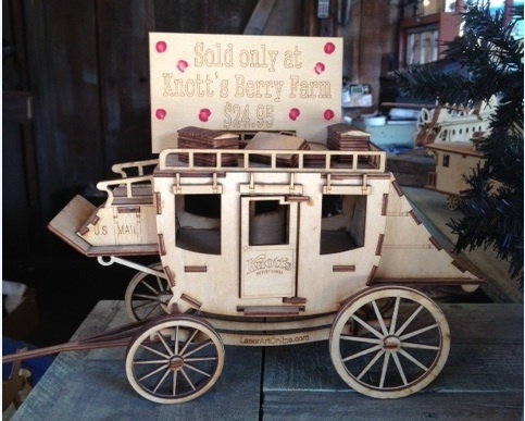 Great holiday gift! Build your own Knott's Stagecoach kit! Find it in Ghost Town in Knott's Christmas Crafts Village.  FREE Admission Mon-Thurs.