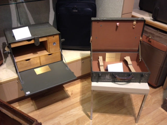 Items manufactured by Hartmann for the US military during the Second World War, such as an Army Field Desk (left) and US Navy Seapack (right) were on display at Mori Luggage & Gifts during the Hertiage Colleciton launch party.