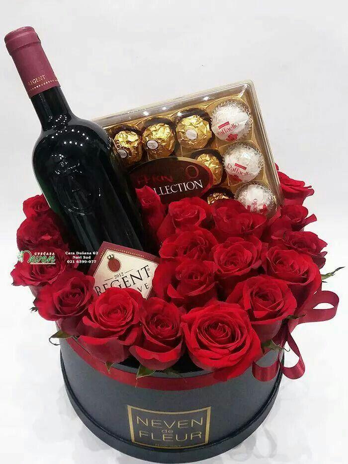 Цветы конфеты вино картинки