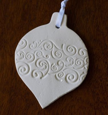 Grace designs more christmas decorations air dry clay for Craft porcelain air dry clay