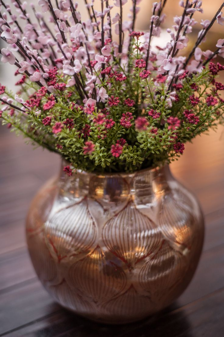 Beautiful pink and red arrangement in our Cease Vase $42