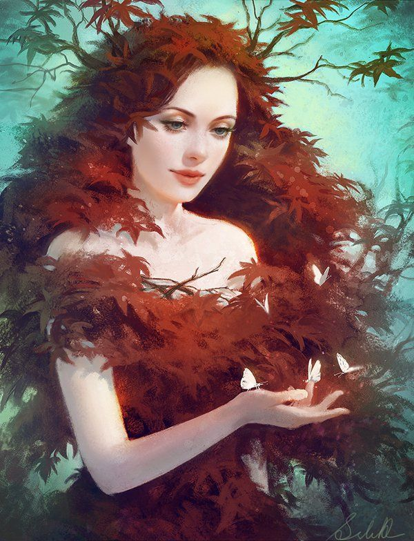 red maple by selenada - Digital Art by Selene