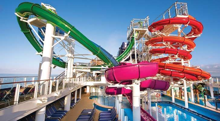 waterworks aboard the carnival vista features a number of slides and