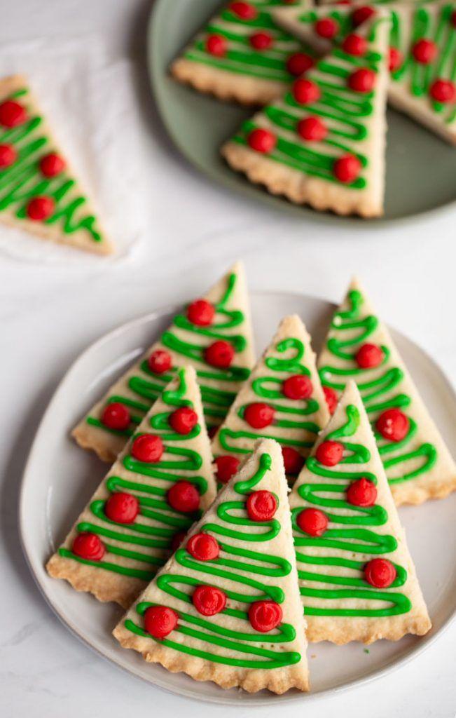 Shortbread Christmas Tree Cookies Recipe Tree Cookies Christmas Tree Cookies Cookies