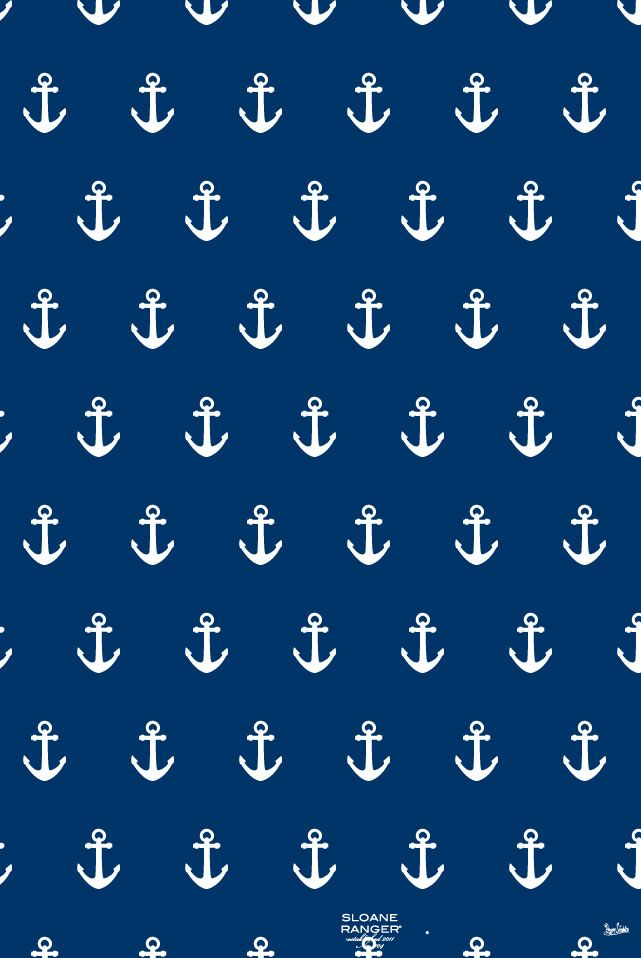 Blue Anchor Wallpaper