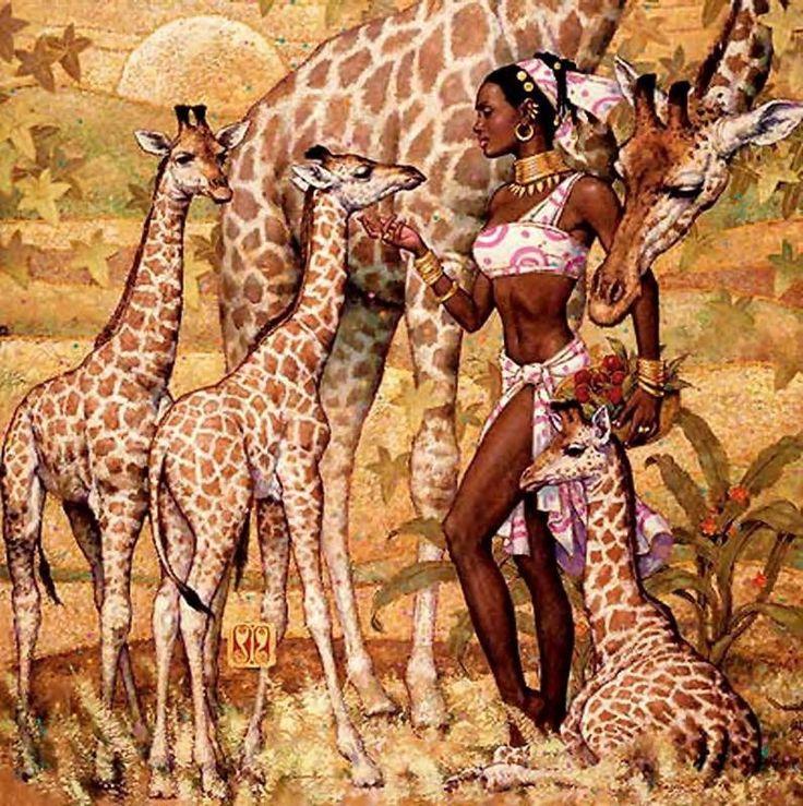 Друзей, открытки африканские