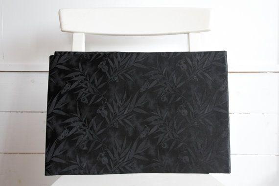 Black Obi Nagoya Silk Japanese Kimono by CJSTonbo on Etsy