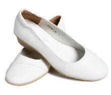 vrouwen zomer zuiver geniune lederen kwaliteit lagere oxford zool geen glijdende medisch verpleegkundige schoenen voor ziekenhuis witte kleur #6048(China (Mainland))