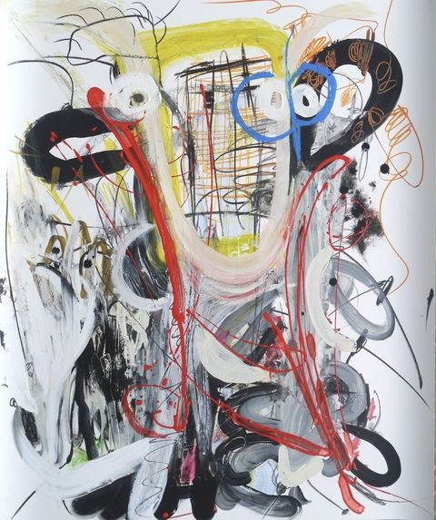 """Artist to watch, Jacie Wiggs, Canadian abstract mixed media artist.   Mixed Media on Yupo Paper, 36"""" x 44"""""""
