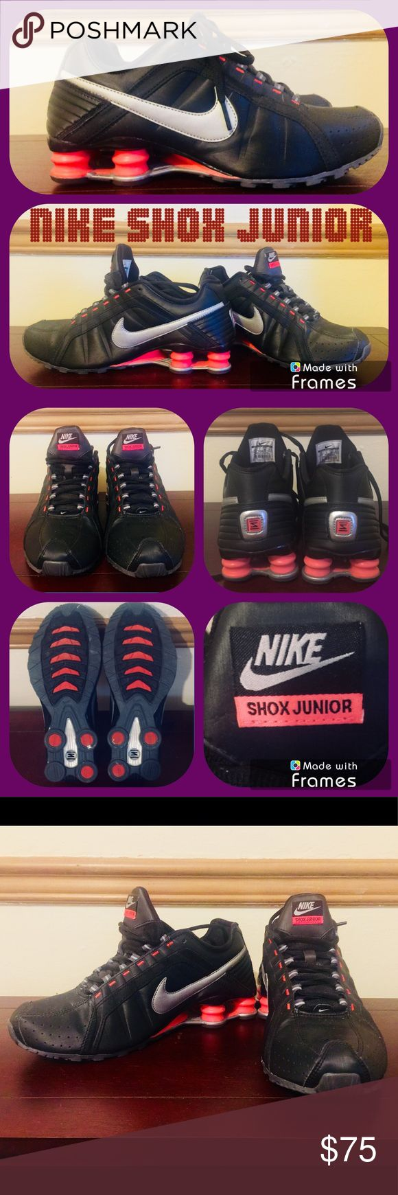 WMN Nike Shox Junior WMN NIKE Shox Junior! Size: 8.5. Color: Mandarin Orange & Jet Black. Very good condition. Nike Shoes Athletic Shoes