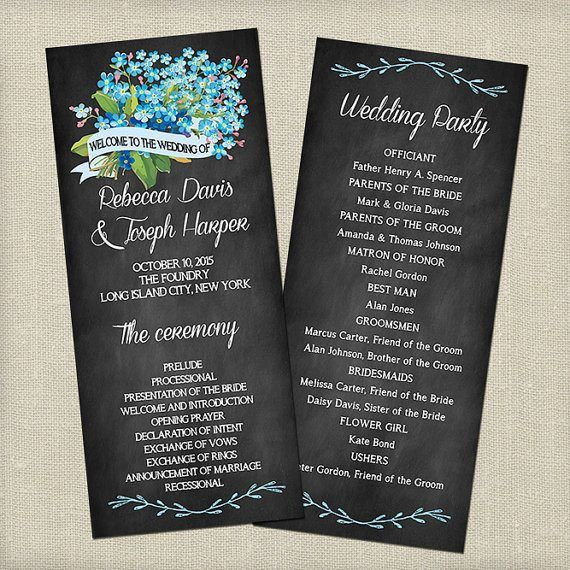 Free Wedding Program Templates Wedding Program Ideas Chalkboard Wedding Program Rustic Wedding Programs Wedding Program Template Free