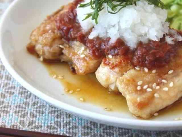 ジューシー!鶏肉の梅ポンおろしステーキの画像