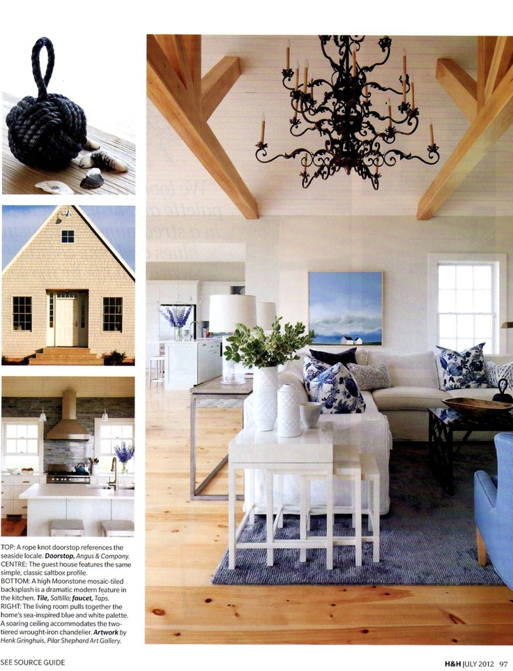 This Living Room By Sarah Richardson Design Emphasizes The East Coast  Saltbox Homeu0027s Sea Inspired Blue And White Palette. A Soaring Ceiling  Accommodates The ... Part 85