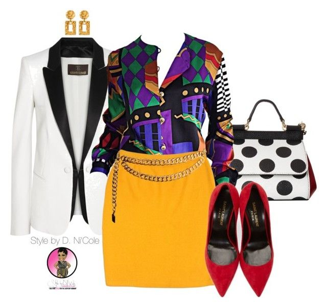 """Untitled #2595"" by stylebydnicole ❤ liked on Polyvore featuring Dolce&Gabbana, Roberto Cavalli, Louis Féraud, St. John, Chanel, Yves Saint Laurent and Ben-Amun"