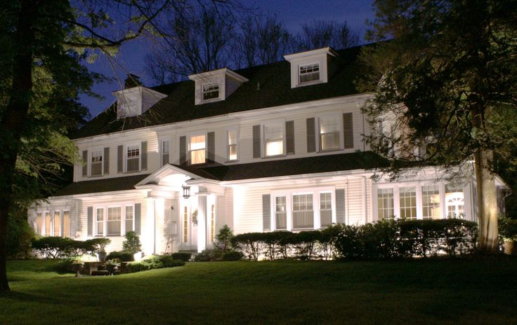 This Center Hall Colonial Looks Stunning At Night With