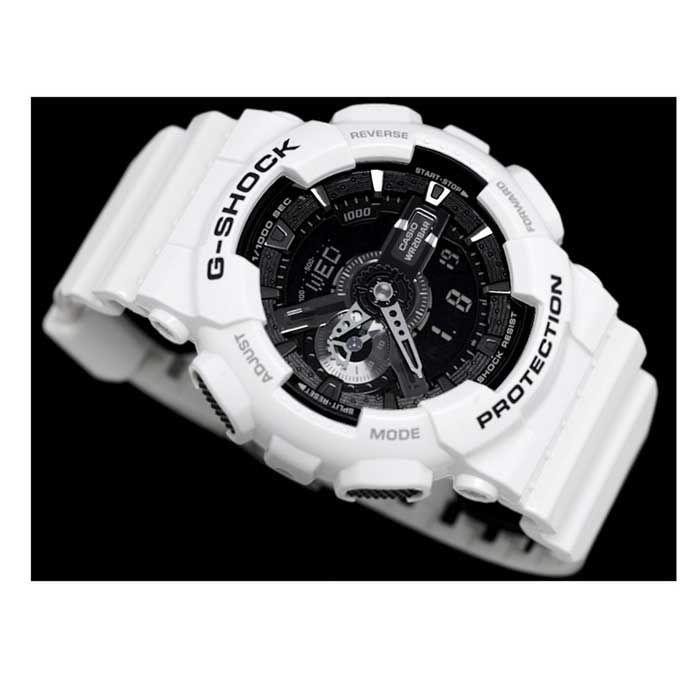 Genuine Casio G-Shock GA-110GW-7ADR Garish Fashion Analog-Digital Watch - White - Free Shipping - DealExtreme