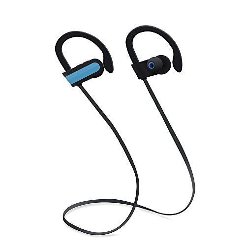 Cheap N.ORANIE Bluetooth Running Earphones Over-Ear Wireless Sport Sweatproof Headphones with Mic Hands-free Calling Headset Soft Ear Hook Earbuds Perfectly fit Runner Jogger Player for Apple iPhone Samsung and all Bluetooth devices(Blue) Best Selling