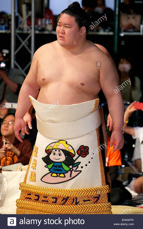 Chiba, Japan. 25th Apr, 2015. Goeido Sumo : Sumo Tournament provincial tour during the Niconico Chokaigi 2015 at Makuhari Messe in Chiba, Japan . © Rodrigo Reyes Marin/AFLO/Alamy Live News Stock Photo