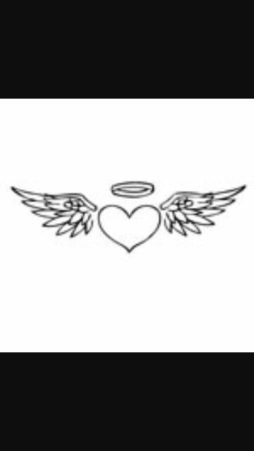 17 Best ideas about Heart Wings Tattoo on Pinterest | Pet ... Angel Wings Heart Halo