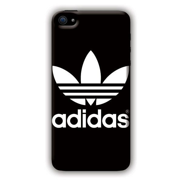 Adidas (wht on blk) iPhone 5c Case (£62) ❤ liked on Polyvore featuring accessories, tech accessories, phone, phone cases, tech, cases and adidas