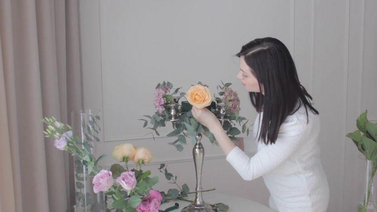 Создание цветочной композиции для украшения обеденного стола