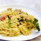Garlic Chicken with Orzo NoodlesWater, Chicken Worzo, Fun Recipe, Garlic Chicken, Orzo Pastahmmm, Worzo Noodles, Savory Recipe, Veggies Stockings, Chicken Noodles