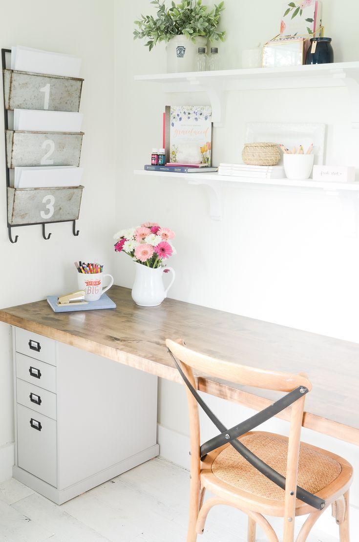 Fabriquer Un Bureau De Travail diy butcher block desk for my home office | fabriquer un