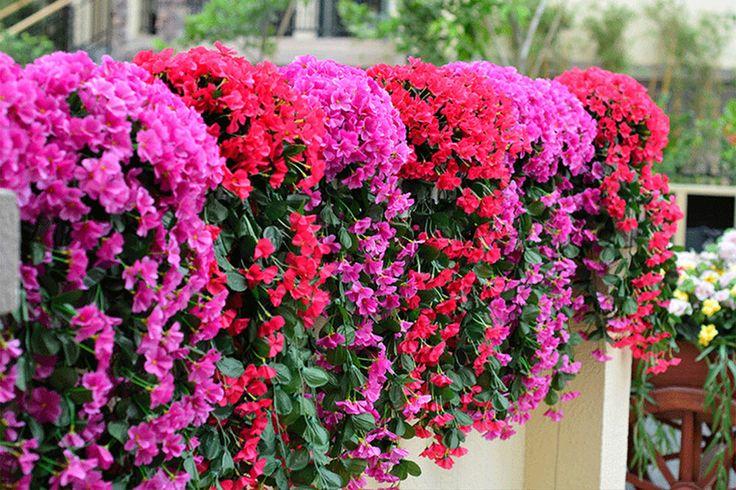 Leafy Violet Artificial Silk Flowers for Wedding Home Decor Wall Fake Bouquet | Home & Garden, Home Décor, Floral Décor | eBay!
