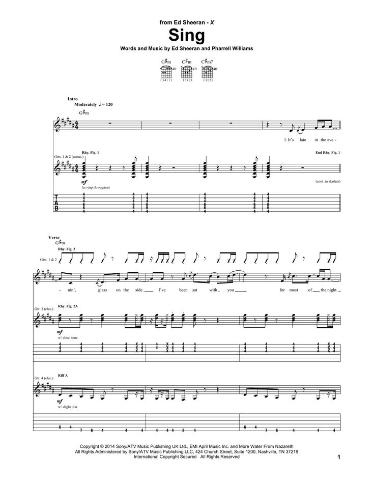 22 best Shape of You sheet music images on Pinterest | Sheet music ...