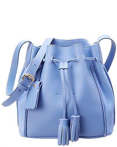 9608efcfa093 Rue La La — Longchamp Penelope Fantaisie Medium Leather   Suede Bucket Bag