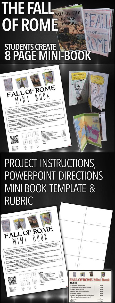 Fall of Rome Mini-Book Project gives students an opportunity to research the reasons for the downfall of the Roman Empire after over a 1000 years of rule. This package includes a PowerPoint that introduces the lesson and runs through the directions of the project, project directions paper with a rubric/checklist, template for the mini-book and as an added bonus, a PowerPoint Lecture of the four main causes of the downfall of Rome. This fun and engaging project is a wonderful opportunity to . . .