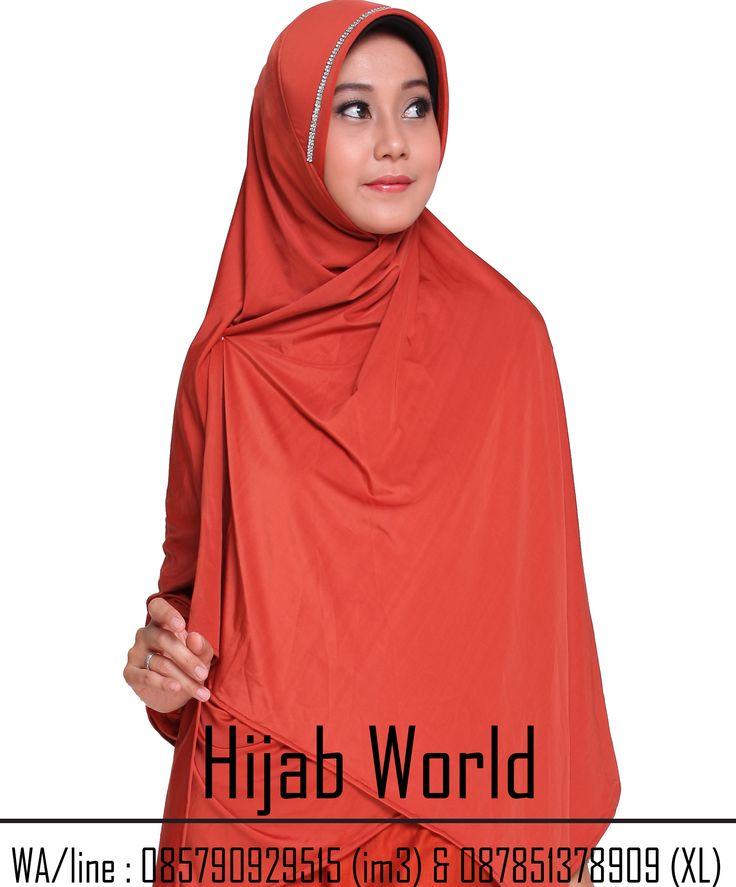 jilbab syar'i instan spandek permata warna bata sms/wa 0821.4284.5152