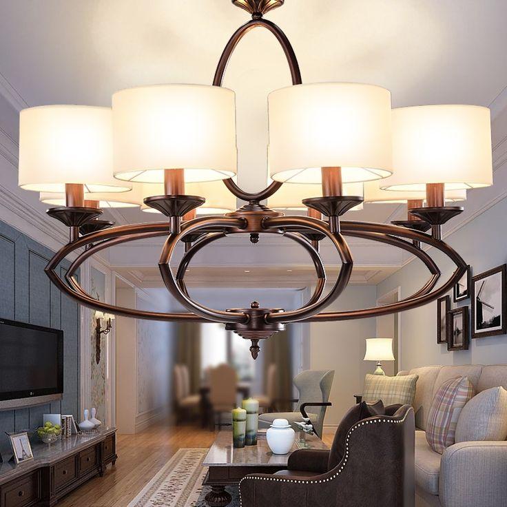 (192.15$)  Watch more here  - led e14 American Iron Brass Fabric LED Lamp LED Light.Pendant Lights.Pendant Lamp.Pendant light For Dinning Room Foyer Bedroom