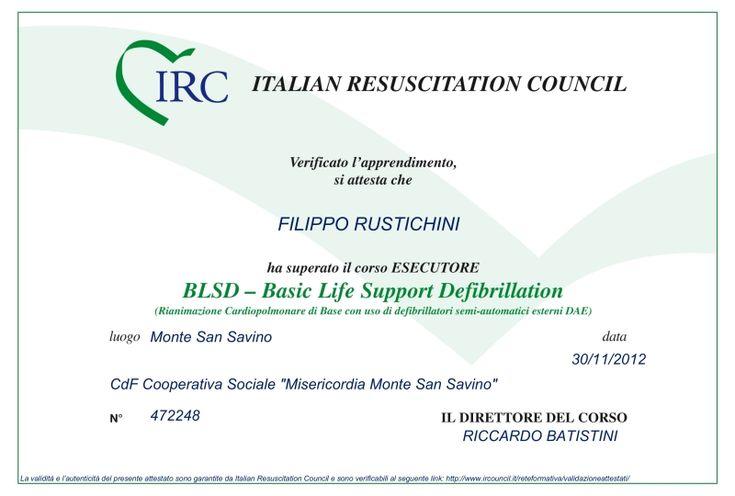 """Con soddisfazione annunciamo che i Dottori Romolini, Rustichini e Salmi hanno brillantemente superato il corso """"BLSD - Basic Life Support Defibrillation"""" con qualifica di """"Esecutore"""" per l'utilizzo del defibrillatore. / Doctors Romolini, Rustichini and Salmi have successfully passed the course """"BLSD - Basic Life Support Defibrillation"""" with the qualification of """"Executor"""" for the use of the defibrillator."""