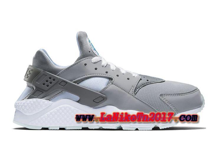 Homme Nike Air Huarache Run Gris Chaussures Pas Cher 318429-020