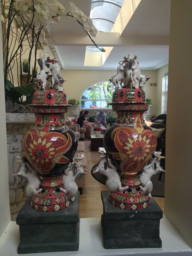 Ardmore Warthog Urns at The Cellars - Hohenort Hotel, Cape Town