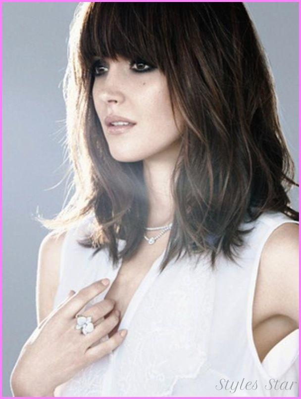Groovy 1000 Ideas About Bangs Medium Hair On Pinterest Medium Short Hairstyles Gunalazisus