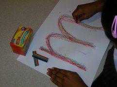 Regenboog letters - om letters over te trekken met wasco !