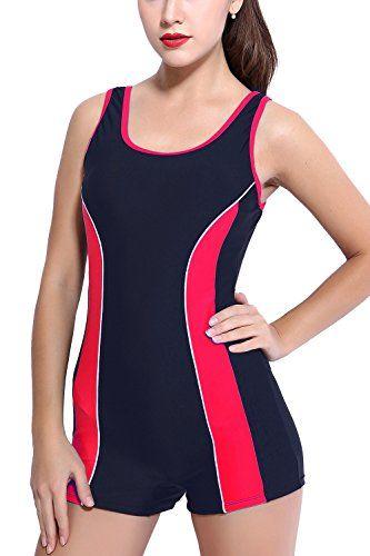 From 16.00 Charmleaks Womens One Piece Swimsuit Boyleg Swimwear Sports Boy Short Swimming Costume Beachwear 12