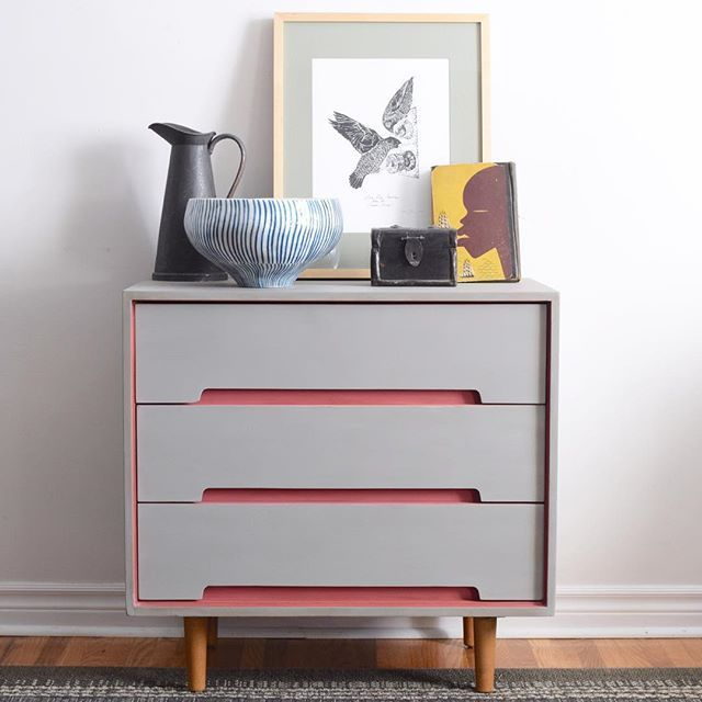 Gorgeous Color Combo Pairing Of Scandinavian Pink And Paris Grey Chalk  Paint® By Poppyseed Creative