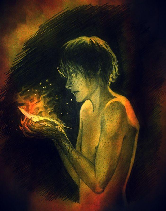 """""""Он был дракон, он был красный — сказочный человек из другой жизни, потому что просто так, ни с того ни с сего в пираньих семьях не появляются грустные люди с умными глазами, о которых рассказывают небылицы. Я беспокоился только из-за Сфинкса. Мне казалось, что его знаменитая проницательность куда-то пропала."""""""