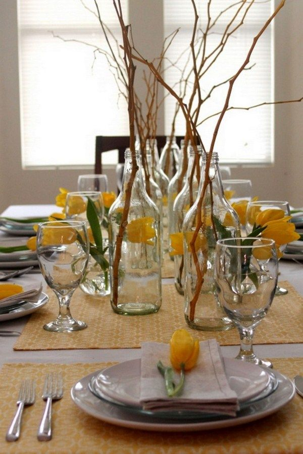 Table decoration of glass A cool decoration 1
