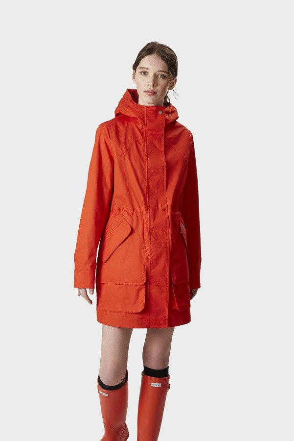 Women S Hunter Original Cotton Rain Coats Hunter Cotton Waterproof Jackets For Women The Untidy Closet Waterproof Jacket Women Jackets For Women Denim Jacket Women
