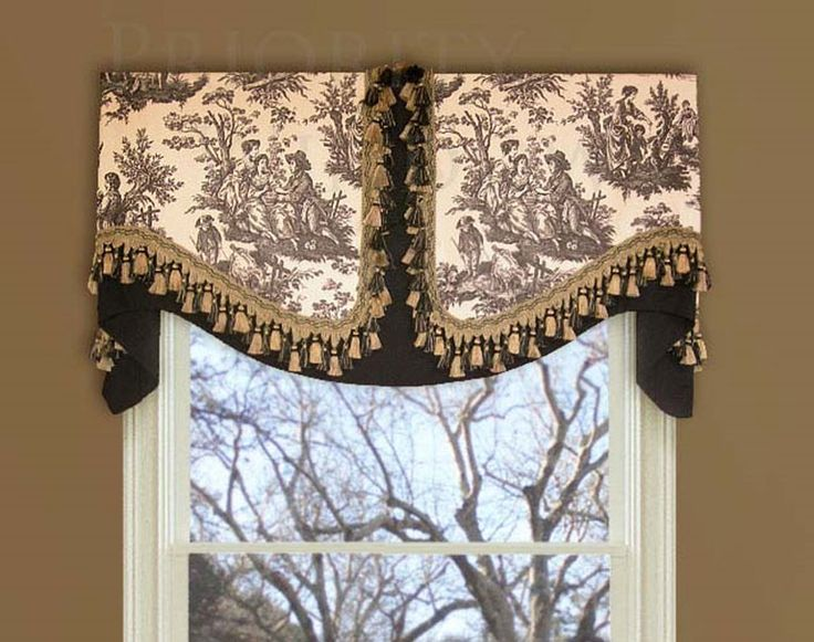 Waverly Country Life Valance Black White #valances